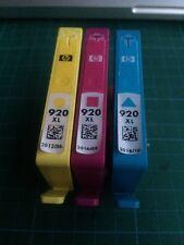 3 Stück  original HP Druckerpatronen 920XL  leer / zum Wiederbefüllen