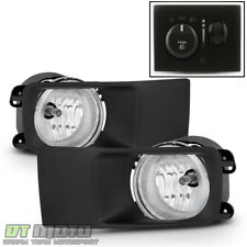 2005 2006 2007 Dodge Magnum Bumper Fog Lights Lamps w/ [OE Style Switch]+Bezels