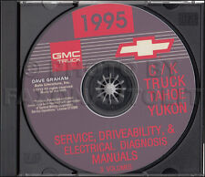 1995 Chevy CK Truck Shop Manuals on CD Pickup Cheyenne Silverado Suburban Tahoe