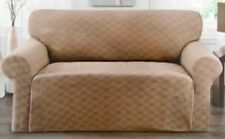 BLACK--CHECKERBOARD SLIPCOVER FOR COUCH/SOFA-STRETCH--AVAILABLE IN 5 COLORS