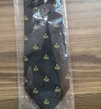 Square & compass Tie, Masonic Black Ties, MM, Masonic Necktie, Master Mason Ties