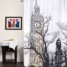 100% Polyester Fabric Shower Curtain - Big Ben London Print 70