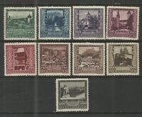 Austria 1923 Sc# B57-B65 MH VG/F - Beautiful Semi postal set