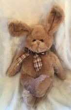 Bearington Collection Harey Easter Bunny Rabbit Plush Stuffed Animal Bow 450296