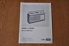 RGD KB KR601 RR701 Radio Genuine Service Manual. Kolster Brandes, Vintage manual