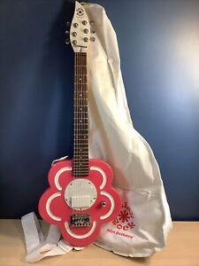 Daisy Rock Girl Guitars RH Pink Flower Electric Guitar w Soft Case & Strap