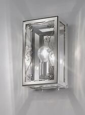 Applique contemporaneo cromato con vetro di cristallo BELL vittoria 1390/A1L