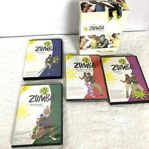Zumba Fitness DVD Set 4 DVD Set Beginner Advanced Power Abs Buns and Thighs