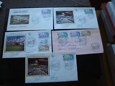 FRANCE - 5 enveloppes 1er jour 1981 (conseil de l europe) (cy84) french