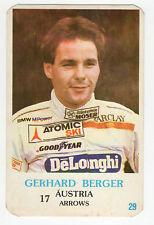 1986 PORTUGESE TASCA Calendario F1 AUSTRIACO FRECCE TEAM PILOTA GERHARD BERGER