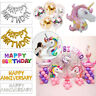 Happy Birthday Anniversary LED Light Confetti Filled Foil Banner Balloons Decor