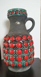 Große Bay Keramik Bodenvase 65-30 Fat Lava Bubble 60er 70er Jahre Retro