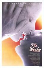 "9 1/2 WEEKS - 27""x41"" Original Movie Poster One Sheet 1986 Kim Basinger Rolled"