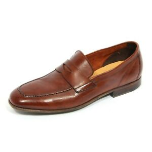 G4514 mocassino uomo GREEN GEORGE brown leather loafer shoe man