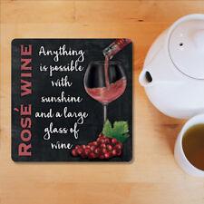 Rosé Verre à Vin Boisson Pub Bar Cuisine Vieux Publicité Cadeau Table de dessous