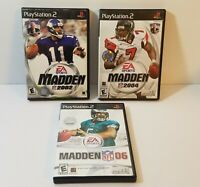 Madden NFL 2002 2004 2006 06 Playstation PS2 ea sports football game lot