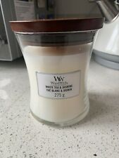Woodwick Island White Tea & Jasmine Medium Jar Candle 275g