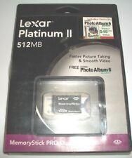 Genuine LEXAR 512MB Memory Stick PRO Duo MSDP512-366 camera flash card Sony PSP