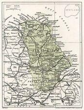 Ulster Belfast Lisburn Bartholomew 1886 Antique County Map County Antrim