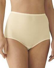 Lorraine Vintage Styling 100% Cotton Full-Cut Hi-Waist Ivory Brief Size 11/4XL