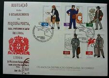 Portugal 175th Anniversary Of Mail Delivery 1996 Postman Uniform Postal (FDC)