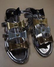 """Flat (less than 0.5"""") Strappy Beach Block Shoes for Women"""