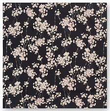 Small Black Cherry Blossom Japanese Furoshiki