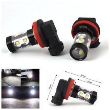 2X Super Bright White 50W 6000K H11 H8 2 LED Bulb Car Fog Light DRL Driving Lamp