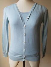 Malo Cardigan Twin Set Light Blue Classic 100% Cotton