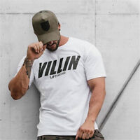 Mens GYM BODYBUILDING CROSSFIT Cotton T-Shirt BEST WORKOUT CLOTHING TRAINING TOP