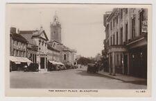 Dorset postcard - The Market Place, Blandford - RP - P/U