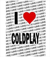 I Love Coldplay - A3 Poster - Gift Birthday Stocking Filler