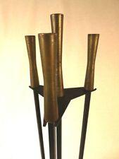 Vintage Mid-Century Modern fireplace tool set attr. Gene Tepper * Nelson Deskey