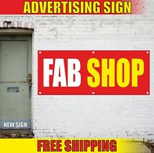 Fab Shop Banner Advertising Vinyl Sign Flag store antique pawn open here sale 24