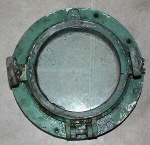 Original Vintage Antique SOLID BRASS Maritime Ship PORTHOLE 10 ½ inch diameter