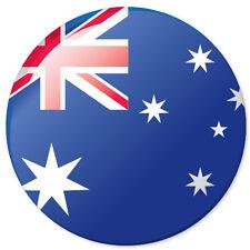 "AUSTRALIA Flag car bumper sticker decal 4"" x 4"""