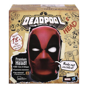 Hasbro Marvel Legends Interactive Electronic Deadpool's Head MISB In Stock Now