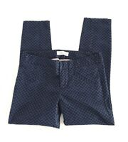 Gap Ultra Skinny Womens Petites Size 2P Blue Polka Dot Skinny Crop Leg Pants