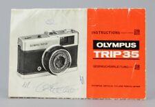 Olympus Trip 35  Mode d'emploi English Deutsch d'origine (Réf#R-158)