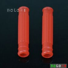 Motorbike Silicone Red Brake Clutch Levers Grips Covers For Honda CRF450R Yamaha