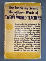 🔺1937 FIRST EDITION Twelve World Teachers by Manly P. Hall PHILOSOPHER'S PRESS