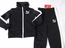 Puma Toddler Boy's Black 2pc Set: Fleece Lined Joggers & Full Zip Jacket Size 3T