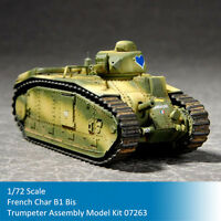 Trumpeter 07263 1/72 French Char B1 Bis Heavy Tank Plastic Assembly Model Kits