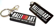 Mitsubishi Lancer Evo Ralliart black bagde key holder, light JDM PVC key fob