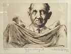 """Charles Bragg """"Gynecologist"""" Signed & Numbered Framed Art Etching #XXII, Doctor"""