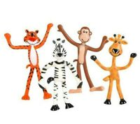 "12Assorted 4"" BENDABLE ZOO ANIMALS Figure Bendies"