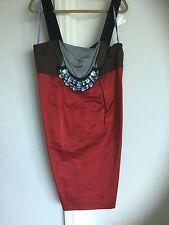 vera wang dress Neiman Marcus New $495, Red Brown Blue  Embezzlement