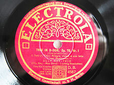 4x 78rpm ELLY NEY TRIO - LUDWIG HOELSCHER - Beethoven GEISTERTRIO - RARE SET !