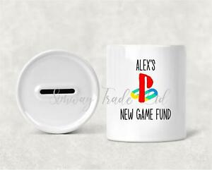 Personalised Gaming Console Money Box Gift Piggy Bank Childrens Savings Bank