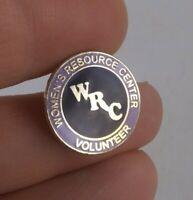Vintage WRC Women's Resource Center Volunteer pin button pinback *EE93